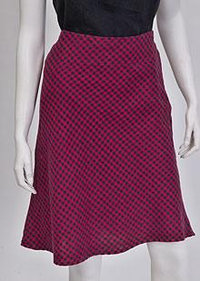 Lněná sukně D07120 KCV