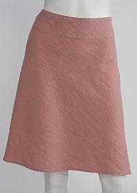 Lněná sukně D07123 OR1
