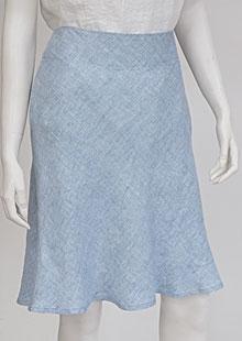 Lněná sukně D07125 VMO