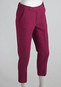 Women's linen trousers 3/4 D112230 CV2