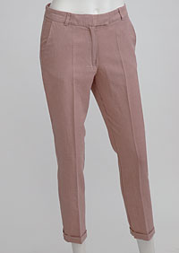 Women's linen trousers 3/4 D112230 OR1