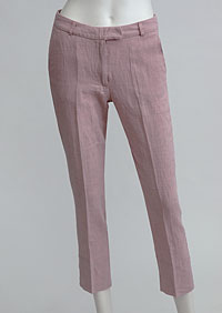 Women's linen trousers 3/4 D112230 RU1