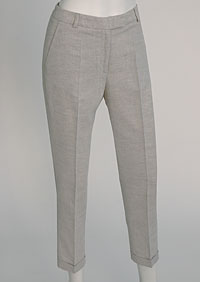 Women's linen trousers 3/4 D112230 ZBE