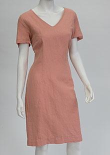 Linen Dress D22740 OR1