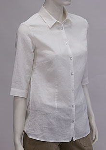 Ladies linen shirt D44463 BI1