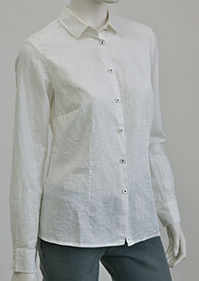 Ladies linen shirt D44491 BI1