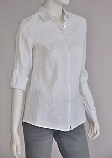 Ladies linen shirt D44496 BI1