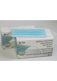 Disposable protective masks 50  pieces, BFE≥ 95%, attached to the ears M900450 MO1