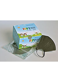 Importované respirátory FFP2, dětské, baleno po 20 kusech ve sterilním sáčku, skladem - dodání do 2 prac. dnů 20 KS/KRAB. M90160 SE2