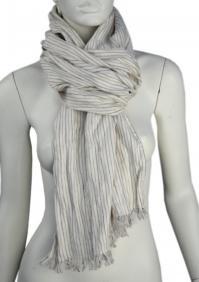 Linen scarf W87280 PBI