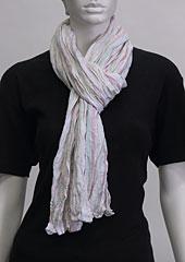 Linen scarf W87280 PRU