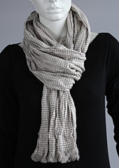 Linen scarf W87280 ZCA