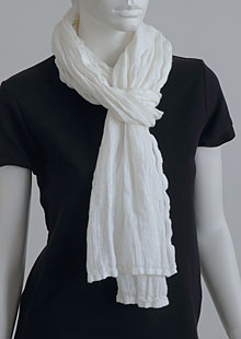 Linen scarf W87383 BI2