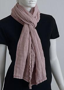 Linen scarf W87383 RU1