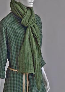 Linen scarf W87383 ZE2