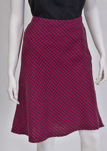 Linen skirt D07120 KCV