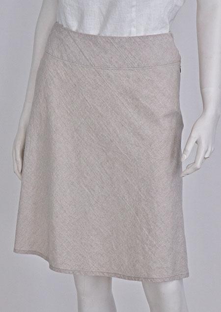 Lněná sukně D07125 MBE