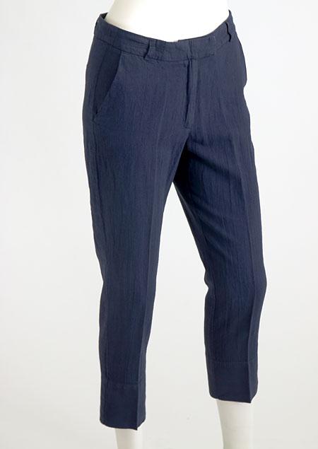 Women's linen trousers 3/4 D112230 MO2