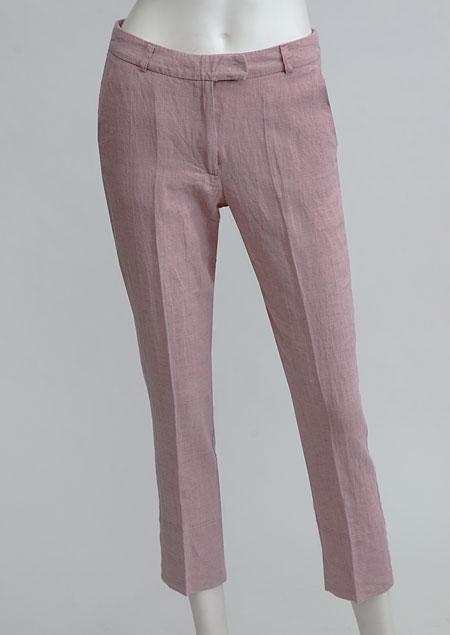 Women's linen trousers 3/4 D112230 RU1