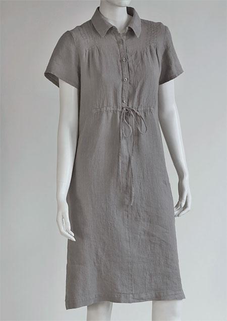 Dámské lněné šaty D22181 VSE