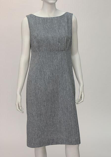 Linen Dress D22624 VMO