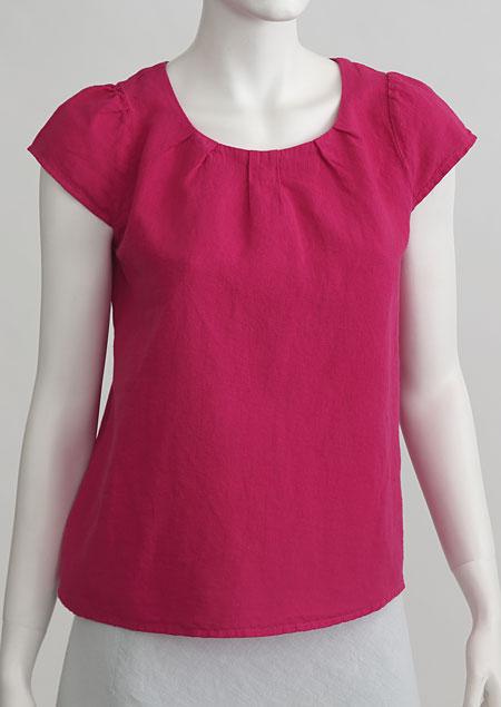 Linen blouse D44220 CV2