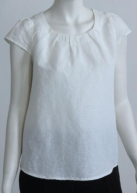 Linen blouse D44221 BI7