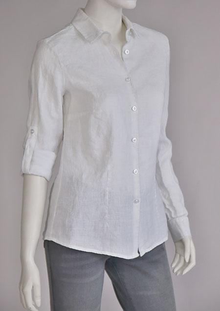 Ladies linen shirt D44496 BI1