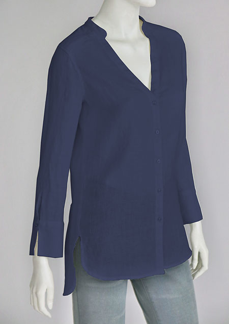 Linen blouse D44541 NA3