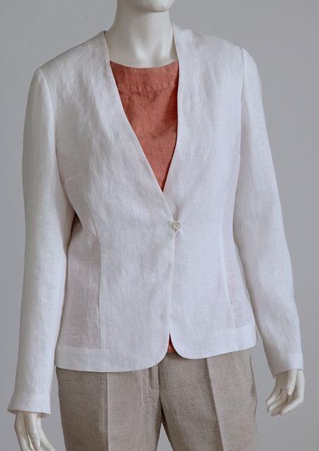 Women linen jacket D53131 BI1