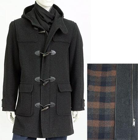 Pánský vlněný kabát H71152 KHN