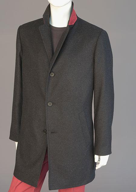 Pánský vlněný kabát H71180 VAN