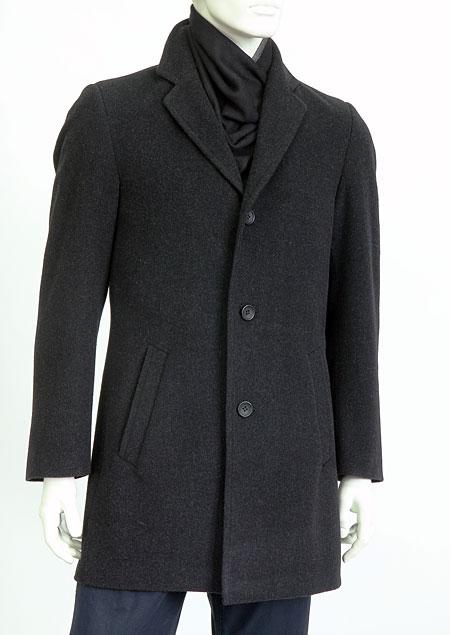 Pánský vlněný kabát H71182 AN1