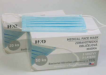 Disposable protective masks 20  pieces, BFE≥ 95%, attached to the ears M900420 MO1