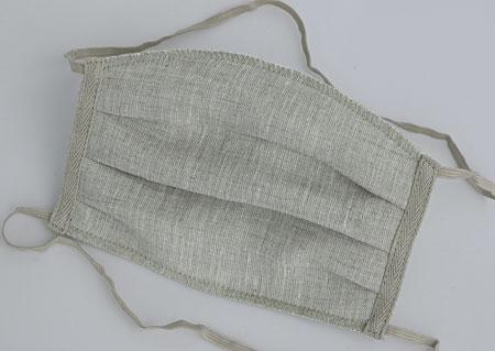 Ručně šité 3vrstvé letní lněné roušky s filtrační vrstvou - pratelné na 60°C - 3 kusy - s dvojitým uchycením za hlavu a krk M900510 VBE