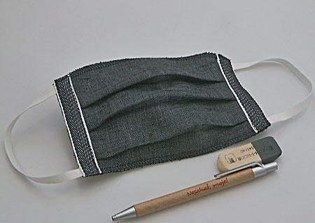 Dětské ručně šité 3vrstvé lněné roušky s filtrační vrstvou - pratelné na 60°C - 3 kusy - s uchycením za uši M900520 VNA