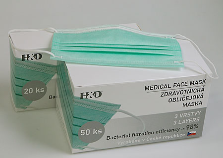 Disposable protective masks 50pieces, BFE≥ 98%, attached to the ears M900650 ZE1