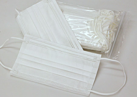 Disposable protective masks 20  pieces, BFE≥ 90%, attached to the ears M900720 BI1