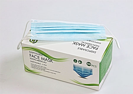 Disposable protective masks 50pieces, BFE≥ 95%, attached to the ears M900850 MO1