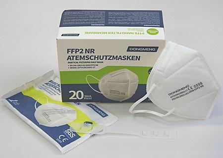 Importované respirátory FFP2, baleno po 20 kusech ve sterilním sáčku, vyprodáno M901020 BI1