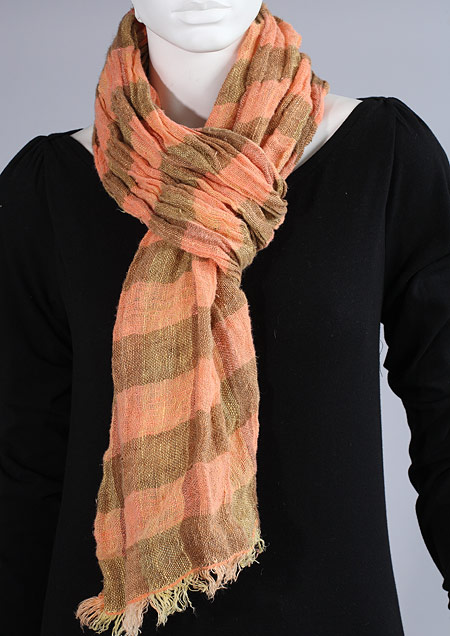 Linen scarf W87280 KOR