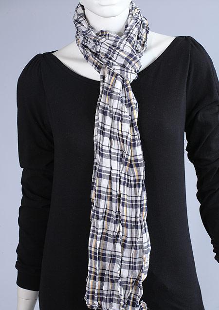 Linen scarf W87280 MNA