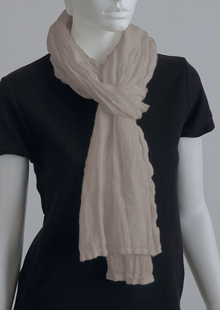 Linen scarf W87383 BE2