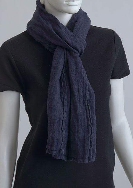 Linen scarf W87383 MO2