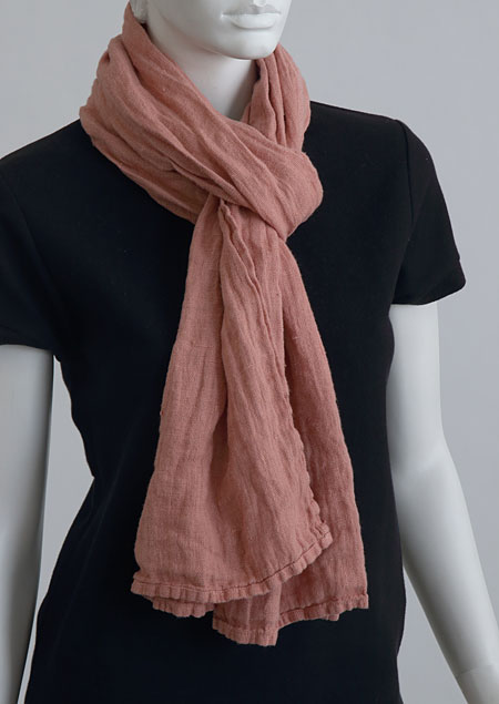 Linen scarf W87383 OR1