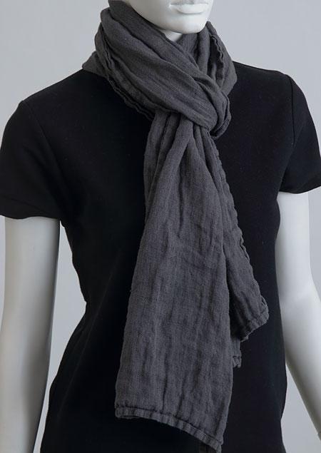 Linen scarf W87383 SE2