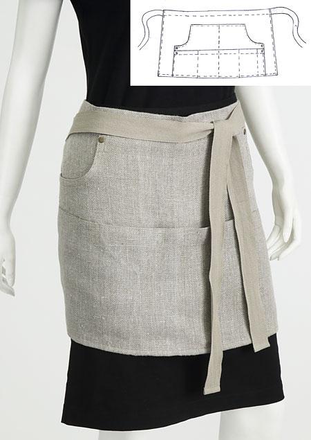 Apron linen W95060 BE4